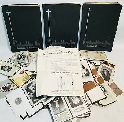 large collection catalog  mourning cards rouwprentjes trauerkarte Unused blanco