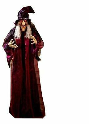 """71"""" Life Size Hanging Animated Talking Witch Halloween Haunted House Prop Decor."""