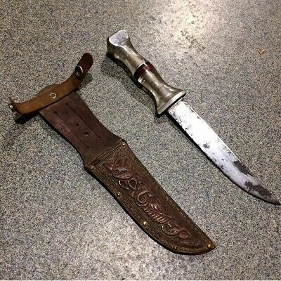 Wwii Theater Made Trench Art Fixed Blade Fighting Knife