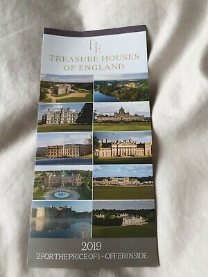 Treasure Houses Of England 2-for-1 Vouchers (X3!) Chatsworth, Etc
