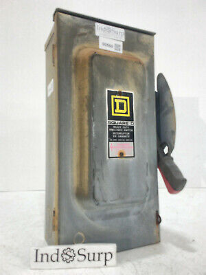 Square D Disconnect 60 Amp 600 VAC Series F1 Type 3