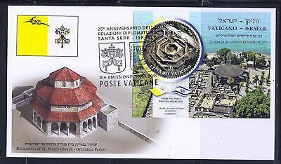 Vatican Join Issue Israel 2019 Peter's Church Kfar Nahum Synagogue S. Sheet Fdc