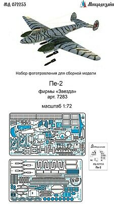 Photo-etched parts 1:72 MicroDesign #MD072208 PAK-FA /'T-50/'  for Zvezda kit