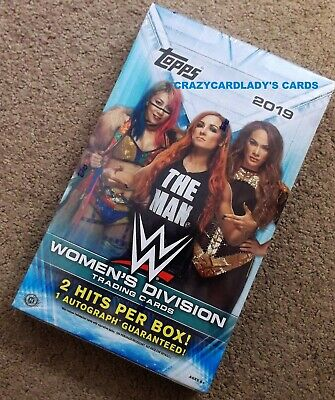2019 Topps WWE Women's Division Wrestling Hobby Box FREE PRIORITY SHIPPING