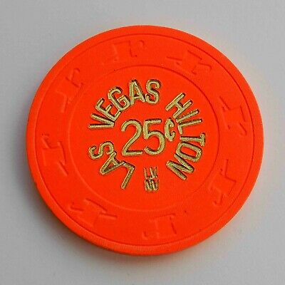 Vintage 25¢ chip from the Las Vegas Hilton Casino (1980s) Las Vegas