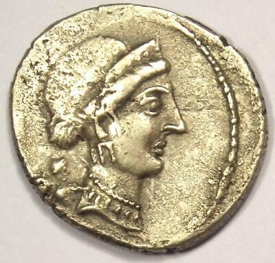 Julius Caesar AR Denarius Coin (49-44 BC, Venus) - VF Condition (Very Fine)
