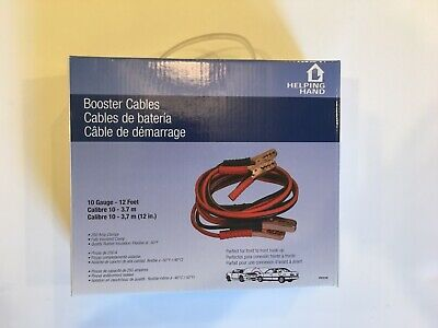 Booster Cables 10 Gauge 12 Feet By Helping Hand New In Box