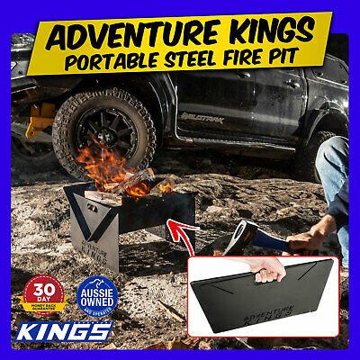 EB Kings Portable Steel Fire Pit   Easy Setup   Use Anywhere 03