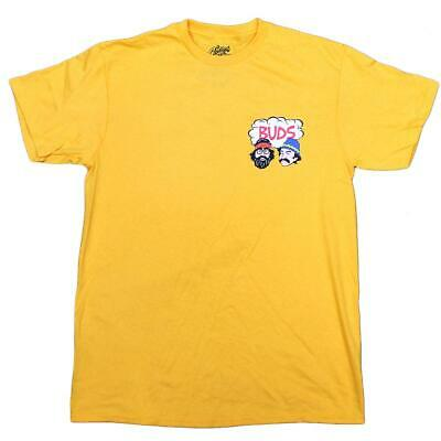 Cheech And Chong Men's Stoner Buds Graphic Licensed T-Shirt Yellow New Authentic