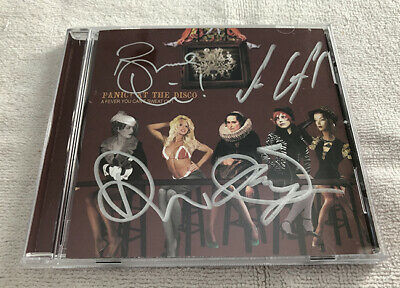 Panic! At the Disco A Fever You Can't Sweat Out Signed CD Urie Autographed