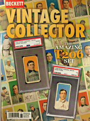Dec./Jan. 2020 Beckett Vintage Collector Price Guide Magazine T206 Set, Wagner