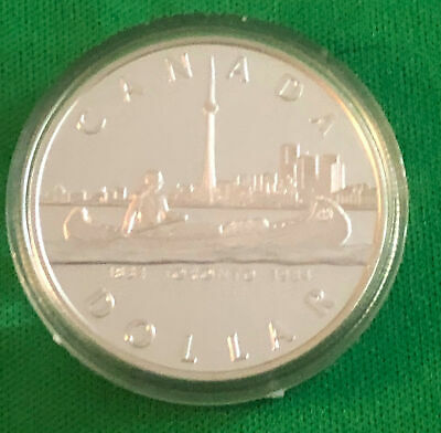 Canada 1984 Proof Dollar Toronto Coin and Capsule Only