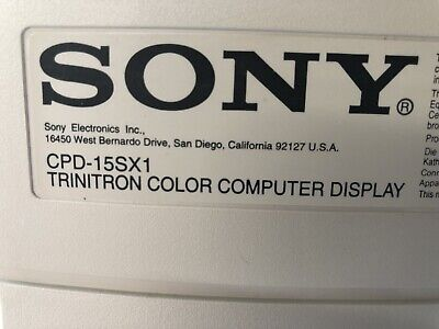"""SONY CPD-15SX1 CRT Computer Monitor 15"""""""