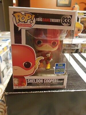 Funko Pop Sheldon Cooper as Flash Big Bang Theory Shared SDCC 2019 Great Cond.