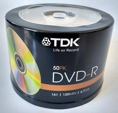 TDK DVD-R Gold 50pk 16x 4.7GB Blank Discs Spindle