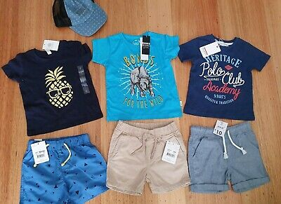 BNWT Boys Summer Bundle - T-shirts And Shorts - Size 2 RRP $68.90