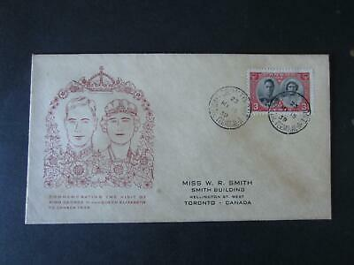 Canada 1939 Royal Visit 237-239 , 3 covers, Toronto cancels, clean [503