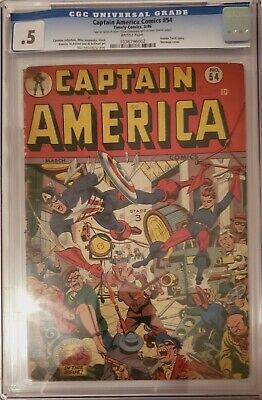 Captain America Comic Book #54 Timely Marvel Golden Age CGC 0.5