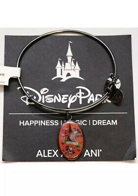 Disney Parks Alex & Ani Event Bangle Mickey Mouse Halloween Party 2018 Gunmetal