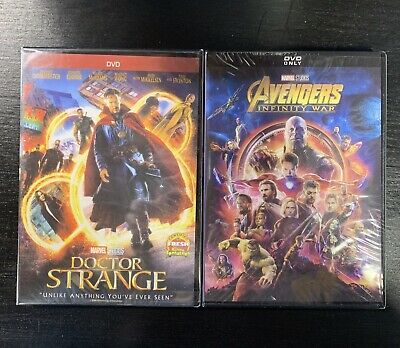 Avengers Infinity War and Doctor Strange DVD Free Shipping