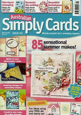 Australian Simply Cards Magazine Issue 101.  2017   Free Bike Die & Stamp Set