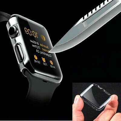 Ultra-Slim Cystal Clear PC Hard Protective Case Cover For Apple Watch 42mm/38mm