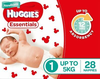 Huggies Essential Nappies - New Born Size (Stage 1)