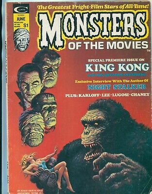 Monster Of The Movies #1 / June 1974 / Marvel / King Kong / The Night Stalker