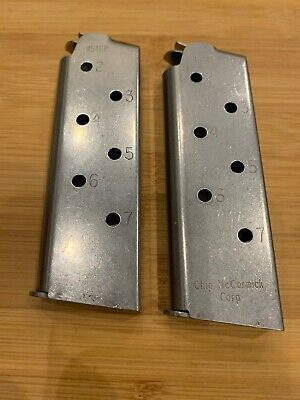 Two Chip McCormick 1911 7 Round Magazines Magazine 45ACP Officers 45 SS Compact