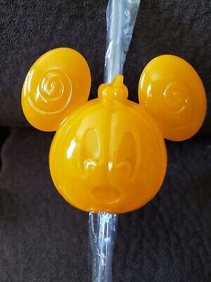 Disney Parks 2019 Mickey Mouse Halloween Pumpkin Bottle Topper & Straw Light Up