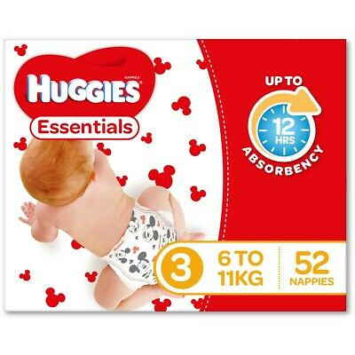 Huggies Essential Nappies - Crawler Size (Stage 3)