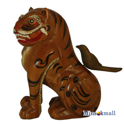 Korea Traditional Paint Character [Tiger And Magpie] Asia Home Decor Memorabilia