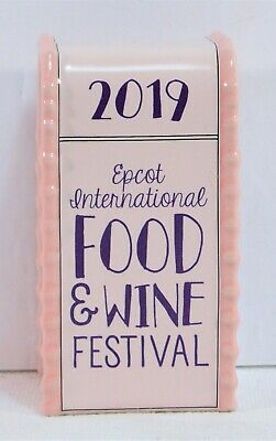 Disney 2019 Epcot Food & Wine Chef Mickey Ceramic Trash Can Salt Pepper Shaker