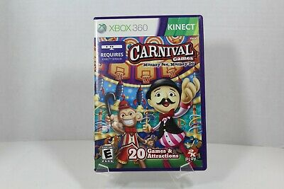 KINECT Carnival Games Monkey See Monkey Do - XBOX 360 - 2011 - CLEANED & TESTED