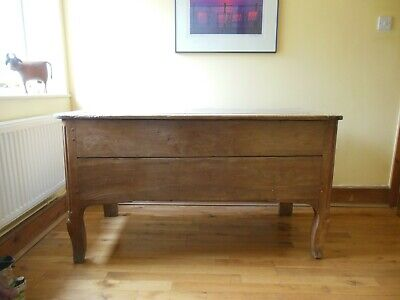 Large Antique Pine Chest Trunk with Legs.