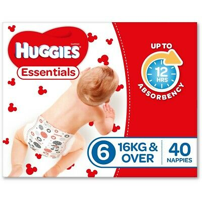 Huggies Essential Nappies - Junior Size (Stage 6)