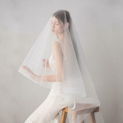 Soft Tulle Fingertip Length Wedding Veil Cover One Layer Face Hair Accessories