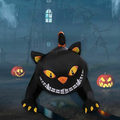 6 FT Halloween Inflatable Animated Turning Head Black Cat Lighted Party Decor
