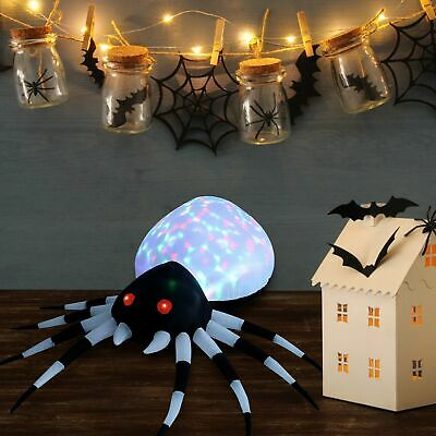 6FT Lighted Halloween Inflatables Blowup Kaleidoscope Spider LED Decor