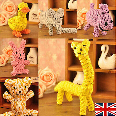 UK Dog Tough Strong Chew Knot Teddy Toy Pet Puppy Teeth Healthy Bear Cotton Rope