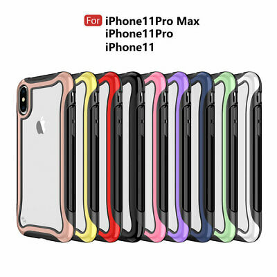 For iPhone 11 Pro Max XR X XS Max 8 7 6 6s Plus Defense Shield Case PC TPU Cover