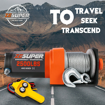 X-BULL Electric Winch 3000LBS Steel Cable 12V 1360kg New REMOTE 4WD ATV