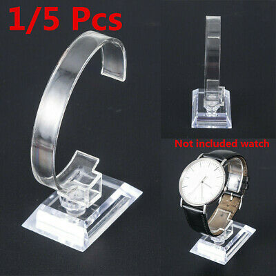 5 Clear Acrylic Watch Display Holder Stand Rack Showcase Tool Transparent Stand