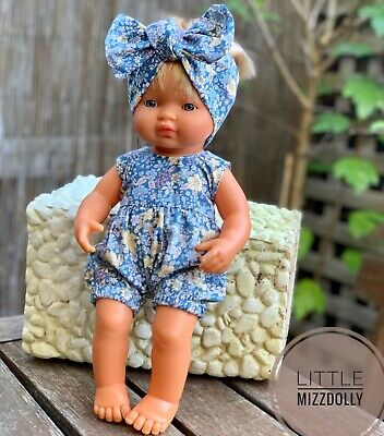 Miniland Doll Clothes Romper & Headband For 38cm Doll