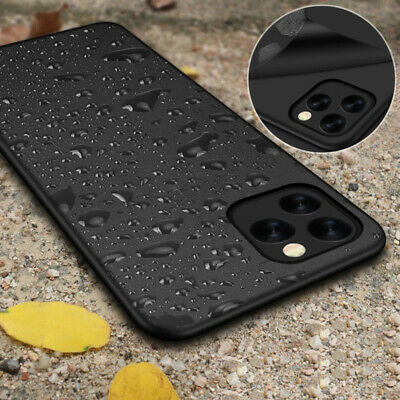 For iPhone 11 Pro 11 Pro Max XR 8+ Luxury Ultra Slim Black Soft Thin Case Cover