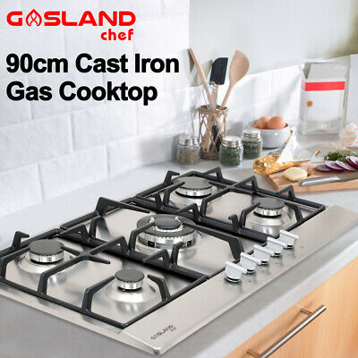 GASLAND chef Gas Cooktop 90cm NG LPG Kitchen Stove 5 Burner Cook Top Stainless
