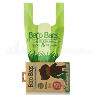 Beco 120 Unscented Degradable Dog Poo Poop Bags Flat Handle XL