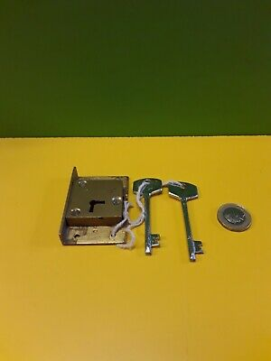 "Solid brass  cut in Till/ Draw/ Cupboard Lock 2 1/2"" X 1  5/8"" With 2 Keys"