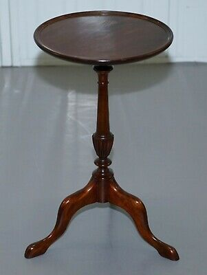 Small Bevan Funnell Mahogany Tripod Lamp Side End Wine Occasional Table Round