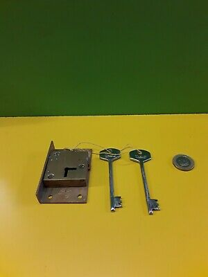 "Solid brass  cut in Till/ Draw/ Cupboard Lock 2 13/16"" X 1  3/4"" With 2 Keys"